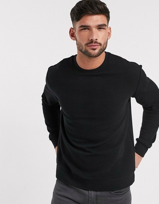 Topman ottoman sweat in black