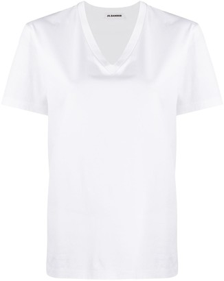 Jil Sander v-neck cotton T-shirt