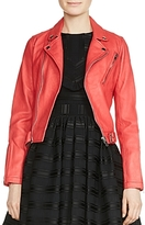 Maje Bostep Leather Moto Jacket