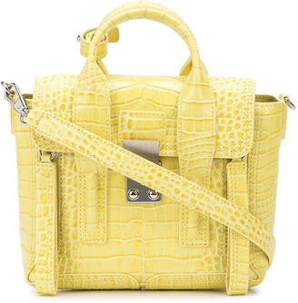 3.1 Phillip Lim mini Pashli crocodile-embossed crossbody bag