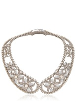 Pearl &  Brass Collar Necklace