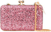 Sophie Hulme Glittered Sidney clutch - women - Suede/Polyester - One Size