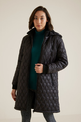 Seed Heritage Quilted Longline Puffer