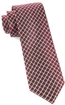 The Tie Bar Textured Check Silk Tie