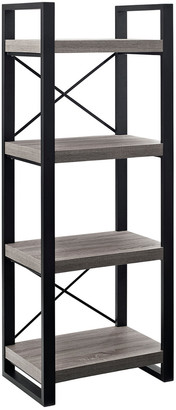 Hewson 62In Industrial 4-Shelf Bookcase