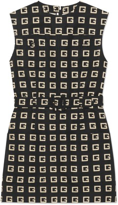 Gucci Square G print faille short dress