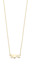 Jennifer Meyer Jewelry 18k Gold I Heart U Necklace