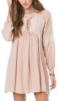 O'Neill Women's Junie Lace-Up Peasant Dress