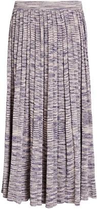 Ulla Johnson Marlie Pleated Knit Midi Skirt
