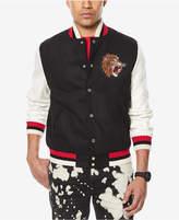 Sean John Men's Big & Tall Tiger Patch Varsity Jacket