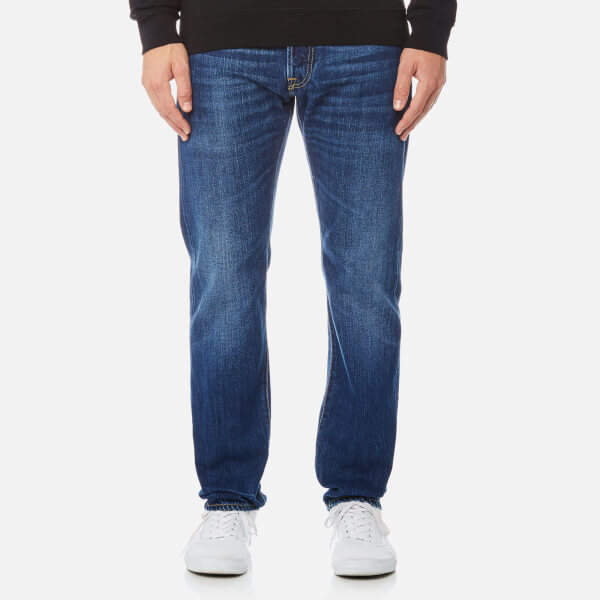 Edwin Men's ED55 Regular Tapered Rainbow Selvedge Jeans - Kiyoshi Wash