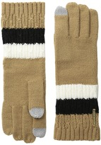 MICHAEL Michael Kors Color Block Rib/Cable Gloves with Touch Technology Extreme Cold Weather Gloves