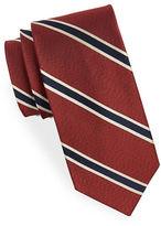 Black Brown 1826 Strriped Silk Tie