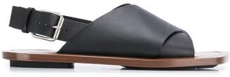 Plan C Cross Strap Sandals