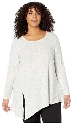 Karen Kane Plus Plus Size Side Tie Top (Heather) Women's Clothing