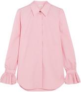 Paul & Joe Ealiette Crystal-embellished Cotton Shirt - Pink