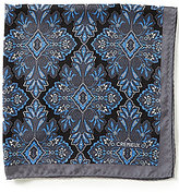 Daniel Cremieux Diamond Medallion Pocket Square