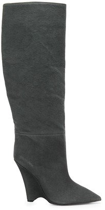 Yeezy 125 Wedge Knee High Boots