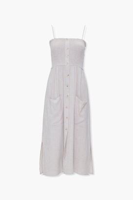 Forever 21 Linen-Blend Pocket Dress