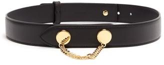 Altuzarra Draped-chain Leather Belt - Womens - Black