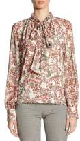 Giambattista Valli Silk Tie Neck Blouse
