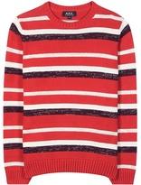 A.P.C. Harper metallic cotton sweater