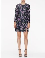 Wes Gordon Floral-Embroidered Slit A-Line Dress