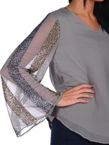 Romeo & Juliet Couture Sequin Sleeve Blouse