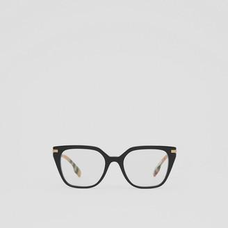 Burberry Vintage Check Detail Square Optical Frames