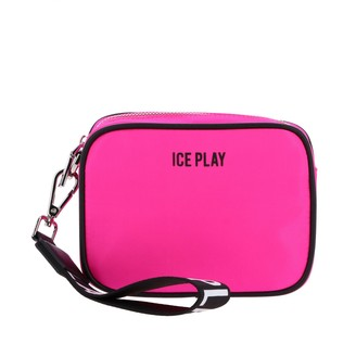 Ice Play Brick Clutch Bag In Nylon With Logo