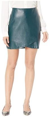 Bishop + Young Vegan Leather Mini Skirt (Jade) Women's Skirt