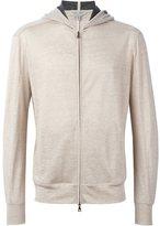 John Varvatos zip front knit hoodie