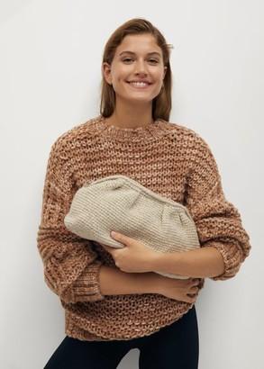 MANGO Knitted clutch