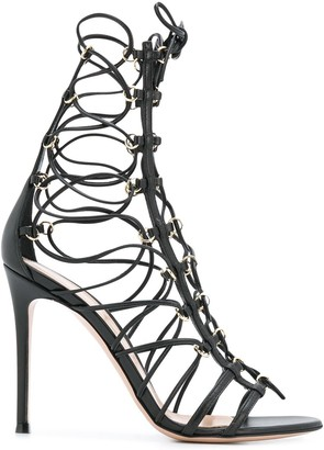 Gianvito Rossi lace-up 1050mm heel sandals