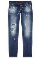 Dolce & Gabbana 14 Blue Distressed Slim-leg Jeans