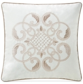 "Waterford Trousseau Mocha 14"" Square Decorative Pillow"