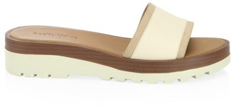 See by Chloe Robin Leather Platform Wedge Mules