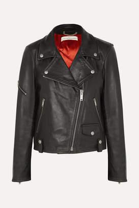 Golden Goose Chiodo Textured-leather Biker Jacket - Black