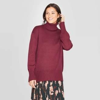 A New Day Women's Dolman Sleeve Turtleneck Tunic Sweater