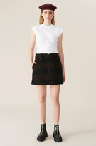Thumbnail for your product : Ganni Double Wool Mini Skirt