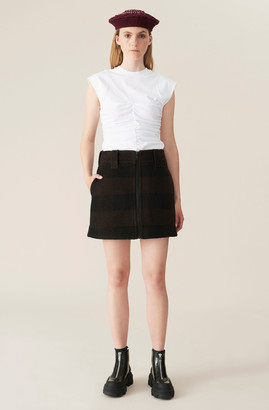 Ganni Double Wool Mini Skirt