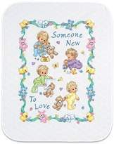 """Dimensions Baby Hugs Quilt Stamped Cross Stitch Kit - 43"""" x 34"""" Someone New"""