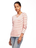 Old Navy Classic Striped V-Neck Sweater for Women