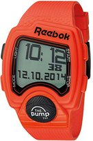 Reebok Pump Men's Quartz Watch with LCD Dial Digital Display and Orange Silicone Strap RC-PLI-G9-POPO-OB