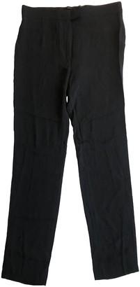 Haider Ackermann Black Silk Trousers