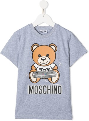 MOSCHINO BAMBINO Teddy Game Console print T-shirt