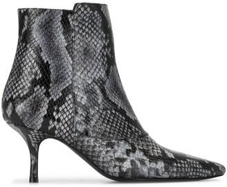 Anine Bing Ava python print boots