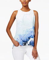 Bar III High-Low Tie-Dyed Top, Only at Macy's