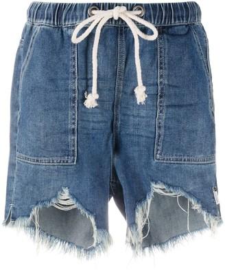 One Teaspoon Drawstring Denim Shorts