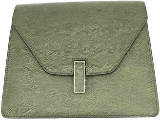 Valextra Iside Green Leather Handbags